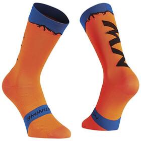 Northwave Clan Socks orange/blue